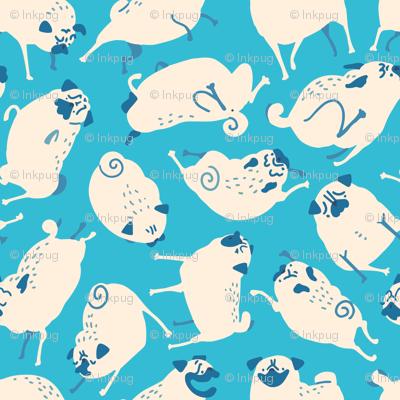 Blue Pug Pattern