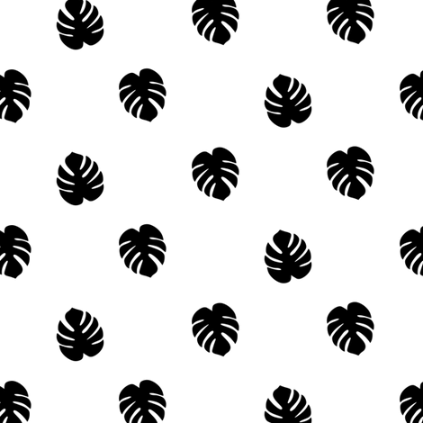 Monstera Leaves fabric by kimsa on Spoonflower - custom fabric