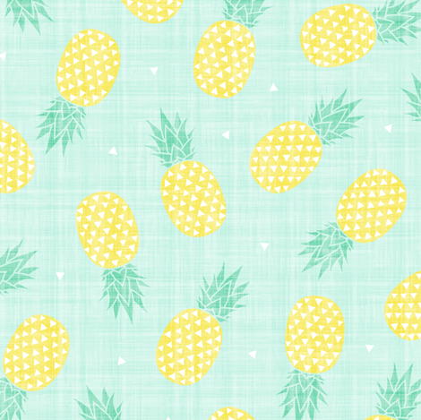 Pineapple - Texture (small) fabric by kimsa on Spoonflower - custom fabric
