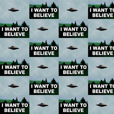 I want to believe fabric by smelinkoff on Spoonflower - custom fabric