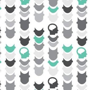 Chevron   Gray Turquoise
