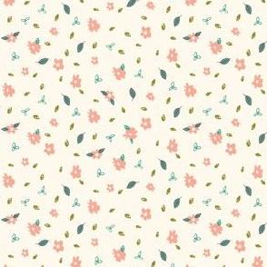 Pencil Floral - Cream