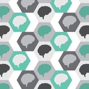 Brain | Gray Turquoise