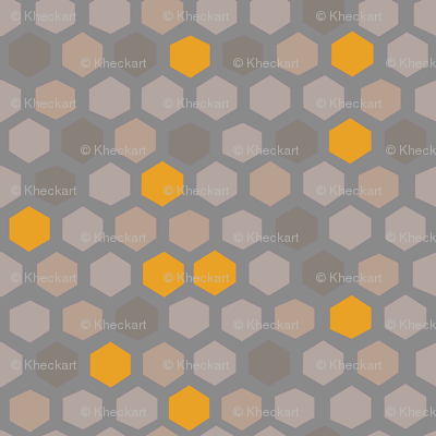 Hex shapes in muted + honey