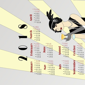2018 Flapper Girl Tea Towel Calendar