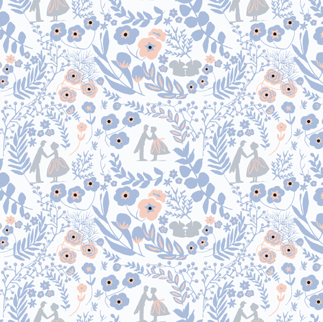 Love is in the Air- Delft (small) fabric by stafford on Spoonflower - custom fabric