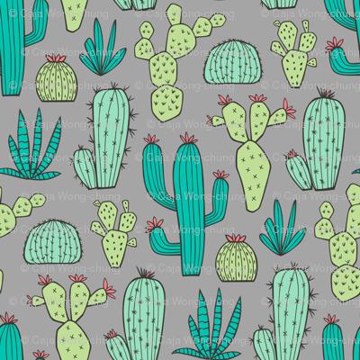 Cactus on Dark Grey