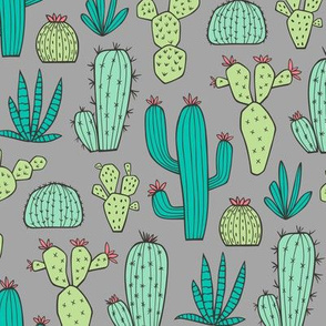 Cactus on Dark Grey