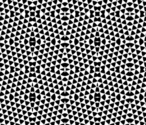 Illusion in Black and White fabric by bluenini on Spoonflower - custom fabric