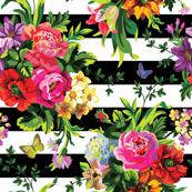 Floral Pop Stripes - Large Print
