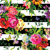 Floral Pop Stripes - Large Print