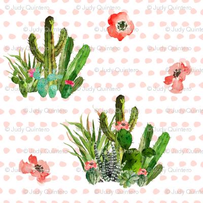 Western Aztec Floral Polka Dots