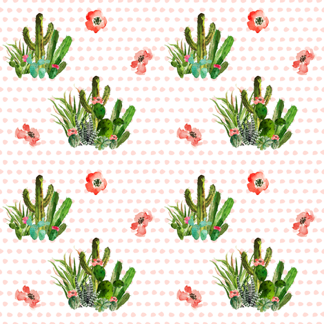 Western Aztec Floral Polka Dots fabric by shopcabin on Spoonflower - custom fabric