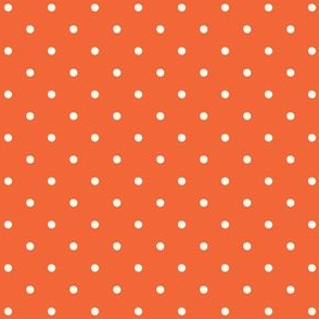 Orange & Ivory Polka Dots Design