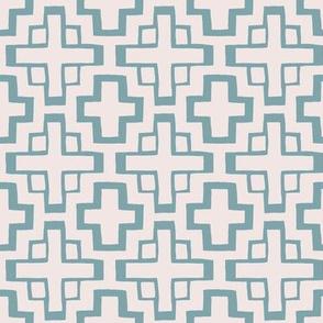 mosaic pool tiles in sunbleached pink/pool blue