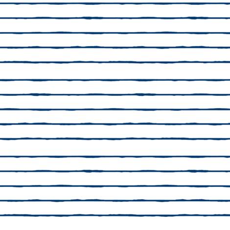 swim lane stripe in white and nautical navy  fabric by ali*b on Spoonflower - custom fabric