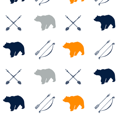 Bear and arrows // Great Outdoors fabric by littlearrowdesign on Spoonflower - custom fabric