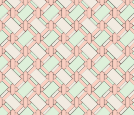 Limited Color Palette - Peach Knot Work - Large fabric by december_rose on Spoonflower - custom fabric