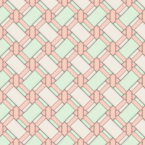 Limited Color Palette - Peach Knot Work - Large