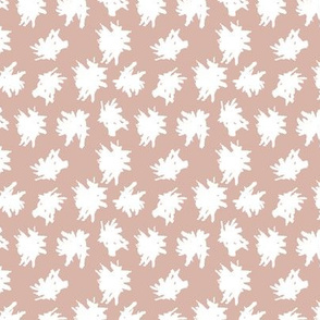 Abstract spots and dots raw brush strokes gender neutral scandinavian style