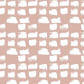 Scandinavian style raw brush strokes geometric abstract design beige white
