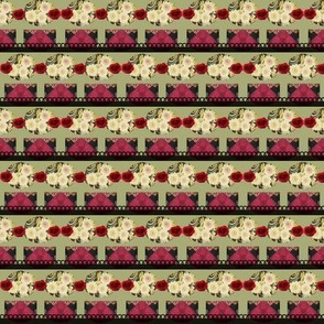 Flowers In A Row