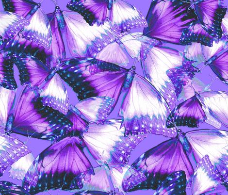 Butterflies Purple fabric by greenedevine on Spoonflower - custom fabric