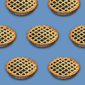 Dean's Blueberry Pies on Blue