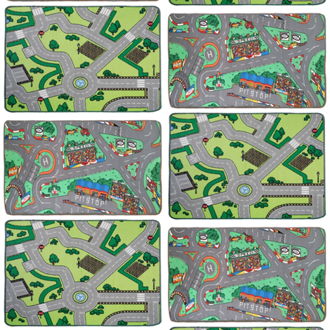 playmat car city carpet for dollhouse fabric by vinkeli on Spoonflower - custom fabric
