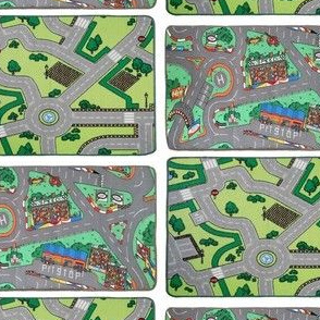 playmat car city carpet for dollhouse
