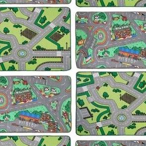 playmat car city carpet for dollhouse