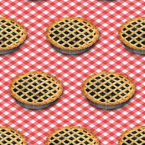 Dean's Blueberry Pies on Gingham