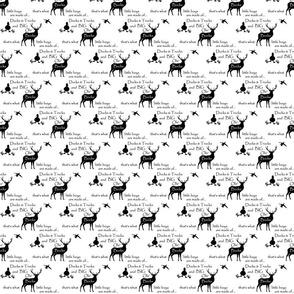 Ducks Bucks & Trucks //  black on white