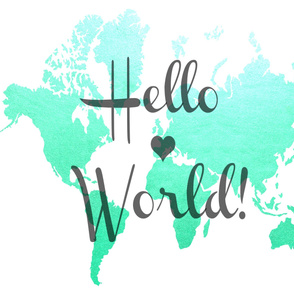 Hello World mint-turquoise