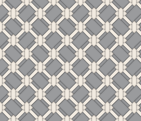 Limited Color Pallette - Cream Knot Work on Grey - Large fabric by december_rose on Spoonflower - custom fabric