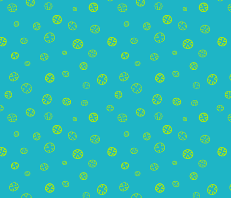 Xs and Os: Aqua fabric by laurelpoppyandpine on Spoonflower - custom fabric