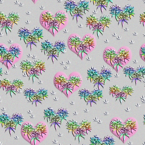 I Heart Sativa fabric by camomoto on Spoonflower - custom fabric