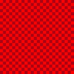 Quarter Inch Christmas Dark Red and Red Squares