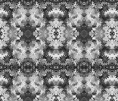 Flowers in Black and White fabric by mommy_brain_art on Spoonflower - custom fabric