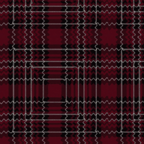 Distorted Toy Soldier Tartan fabric by flutterbi on Spoonflower - custom fabric