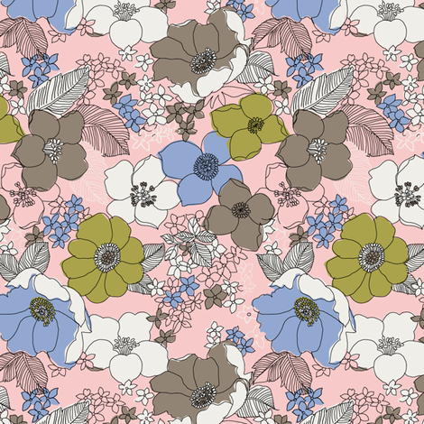 Mini Fantastic Floral fabric by marla_wonboy on Spoonflower - custom fabric