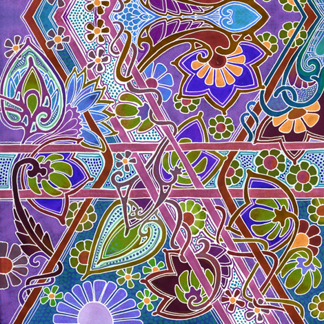 Bright Spring Meander fabric by edsel2084 on Spoonflower - custom fabric