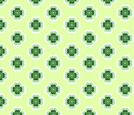 Shamrock_Flower_2_fab-ch fabric by tangledvinestudio on Spoonflower - custom fabric