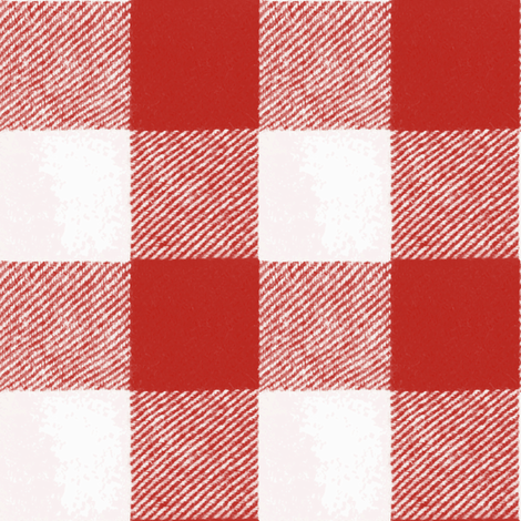 Buffalo Check // Picnic Red fabric by willowlanetextiles on Spoonflower - custom fabric