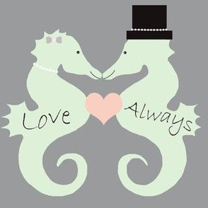 Seahorse Wedding Love Always