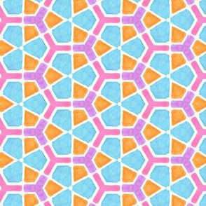 Grape Visions Geometric Water Color Kaleidoscope