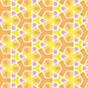 Summer Pop Geometric Water Color Kaleidoscope
