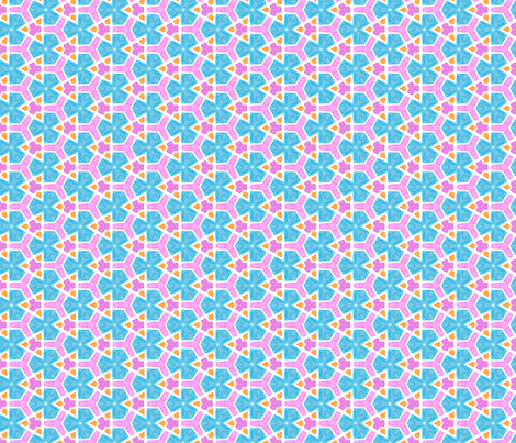 Raver Geometric Water Color Kaleidoscope fabric by hidesysfabric on Spoonflower - custom fabric