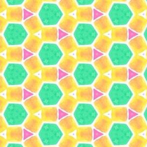 Fun Combo Bright Geometric Water Color Kaleidoscope