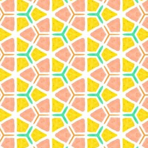 Oranges and Lemons Geometric Water Color Kaleidoscope
